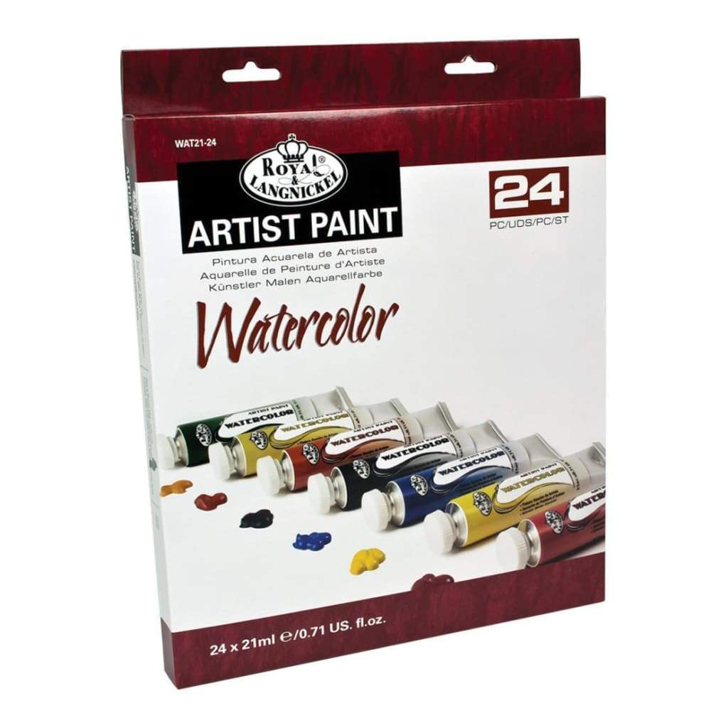 Royal Brush Watercolor Paints 21ml 24 pack Assorted Colors