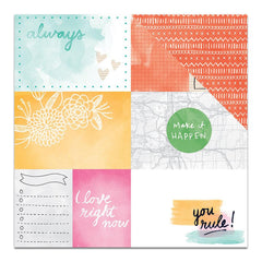 "Amy Tan Rise & Shine Double-Sided Cardstock 12"" X 12"" Emery"