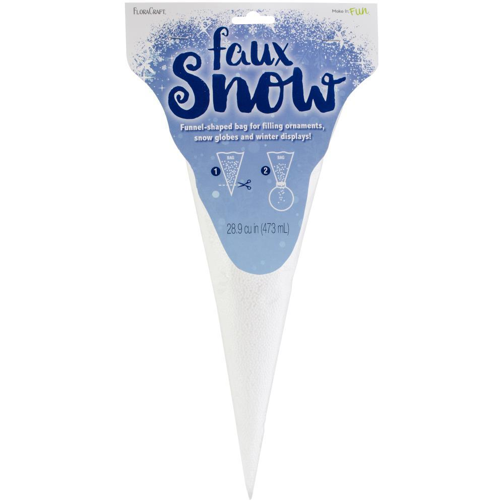 Faux Snow Globe Filler 2mm White, 473ml, 28.9 Cubic Inches