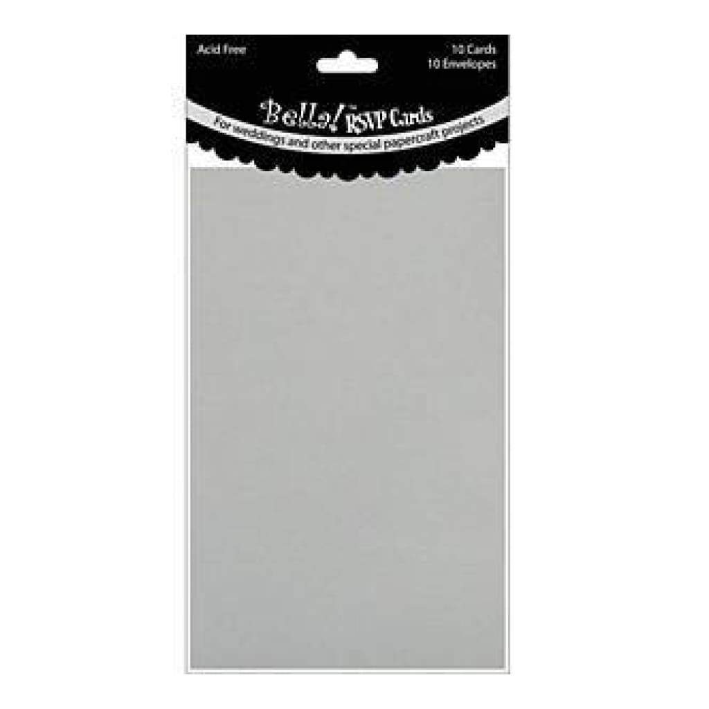 Ruby Rock-It - Wedding Rsvp Cards & Envelopes 3.5In. X5in.  10 Each Pack Silver