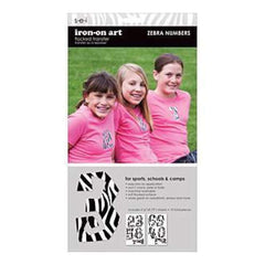 S.E.I. Iron-On Art  - Number Transfers 1-1/2 2 Sheets - Black White Zebra