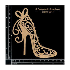 Scrapaholics - Laser Cut Chipboard 1.8mm Thick - Flourish Stiletto, 4.8X4.3in