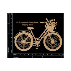 Scrapaholics Laser Cut Chipboard 1.8mm Thick Bicycle, 5in x 3in
