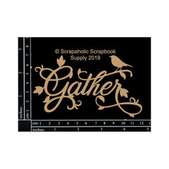 Scrapaholics - Laser Cut Chipboard 1.8mm Thick - Gather, 4.75inch X2.75inch