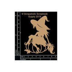 Scrapaholics - Laser Cut Chipboard 1.8mm Thick - Witch, 4inch X3inch