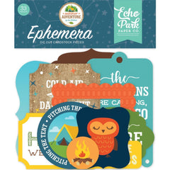 Echo Park Cardstock Ephemera 33 pack Icons, Summer Adventure