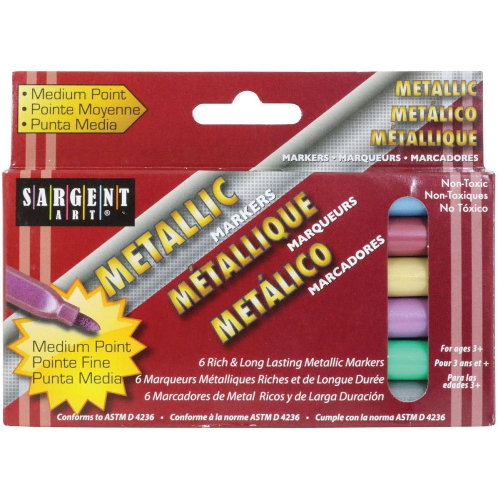 Liquid Metals Medium Point Markers 6/ pack