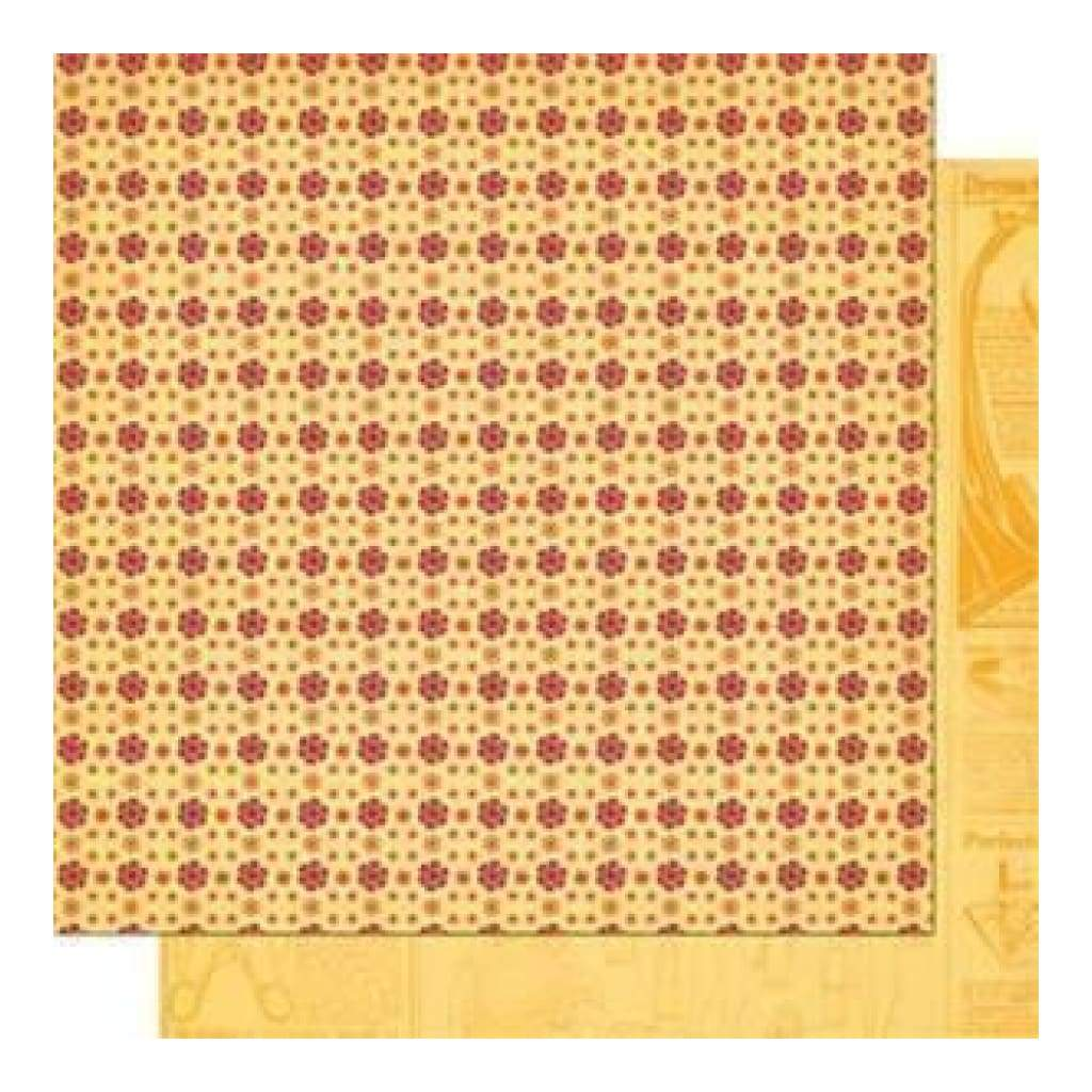 Sale Item - Cosmo Cricket - Material Girl - Calico 12X12 Double-Sided Cardstock