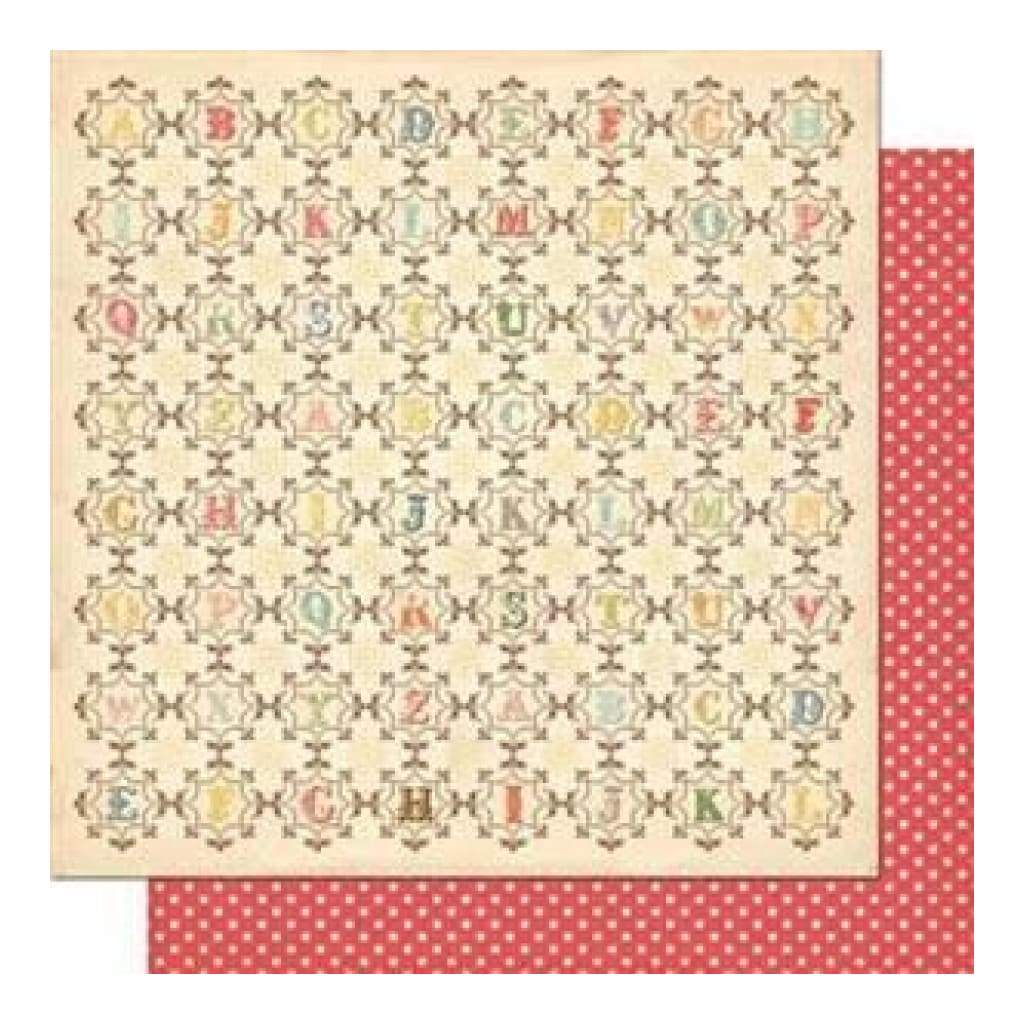 Sale Item - Cosmo Cricket - Odds & Ends - From A-Z 12X12 Double-Sided Cardstock