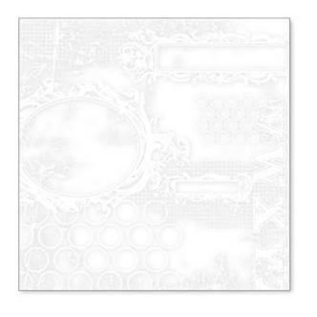 Sale Item - Hambly Screen Prints - All Mixed Up Overlay - White  - Single 12X12