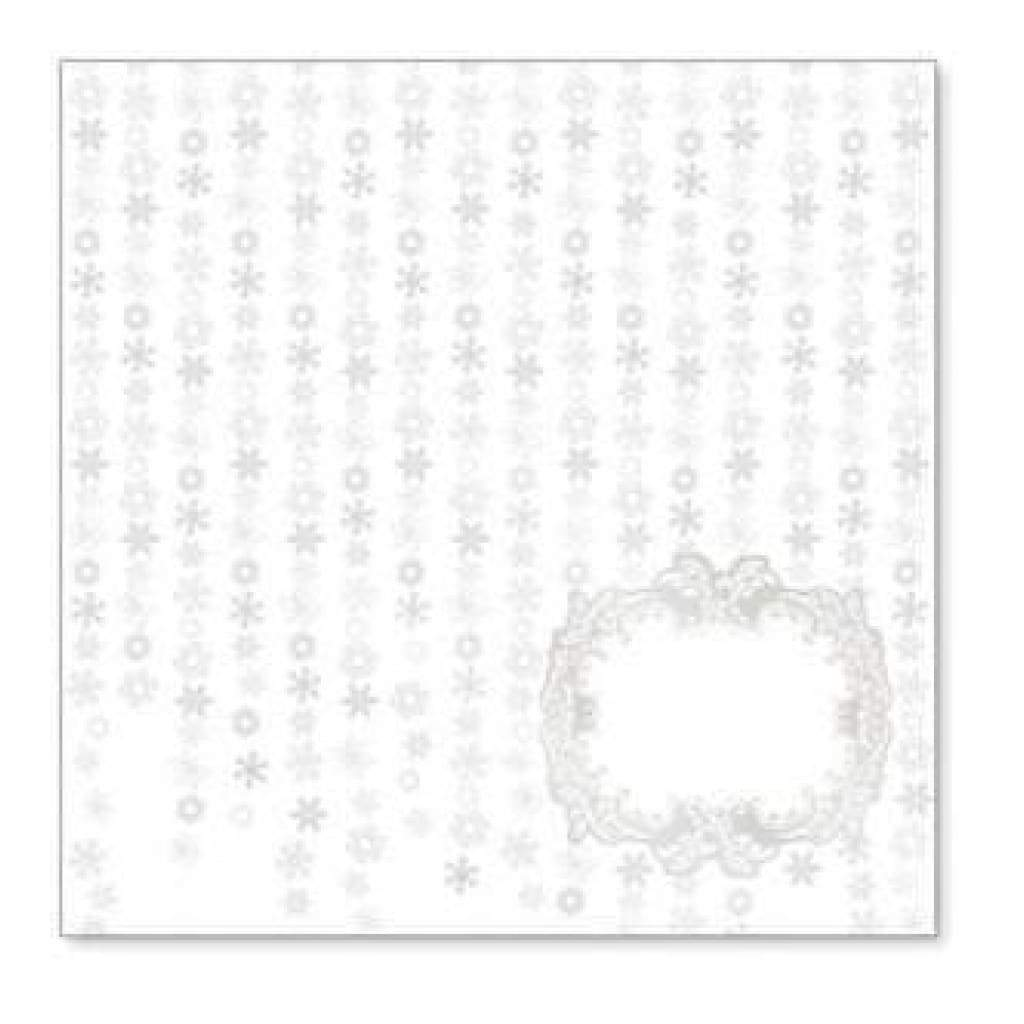 Sale Item - Hambly Screen Prints - Falling Snowflakes Overlay - Metallic Silver