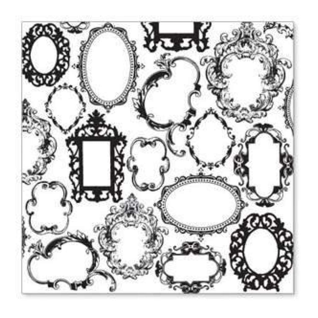 Sale Item - Hambly Screen Prints - Frame Wallpaper Overlay - Black  - Single 12X