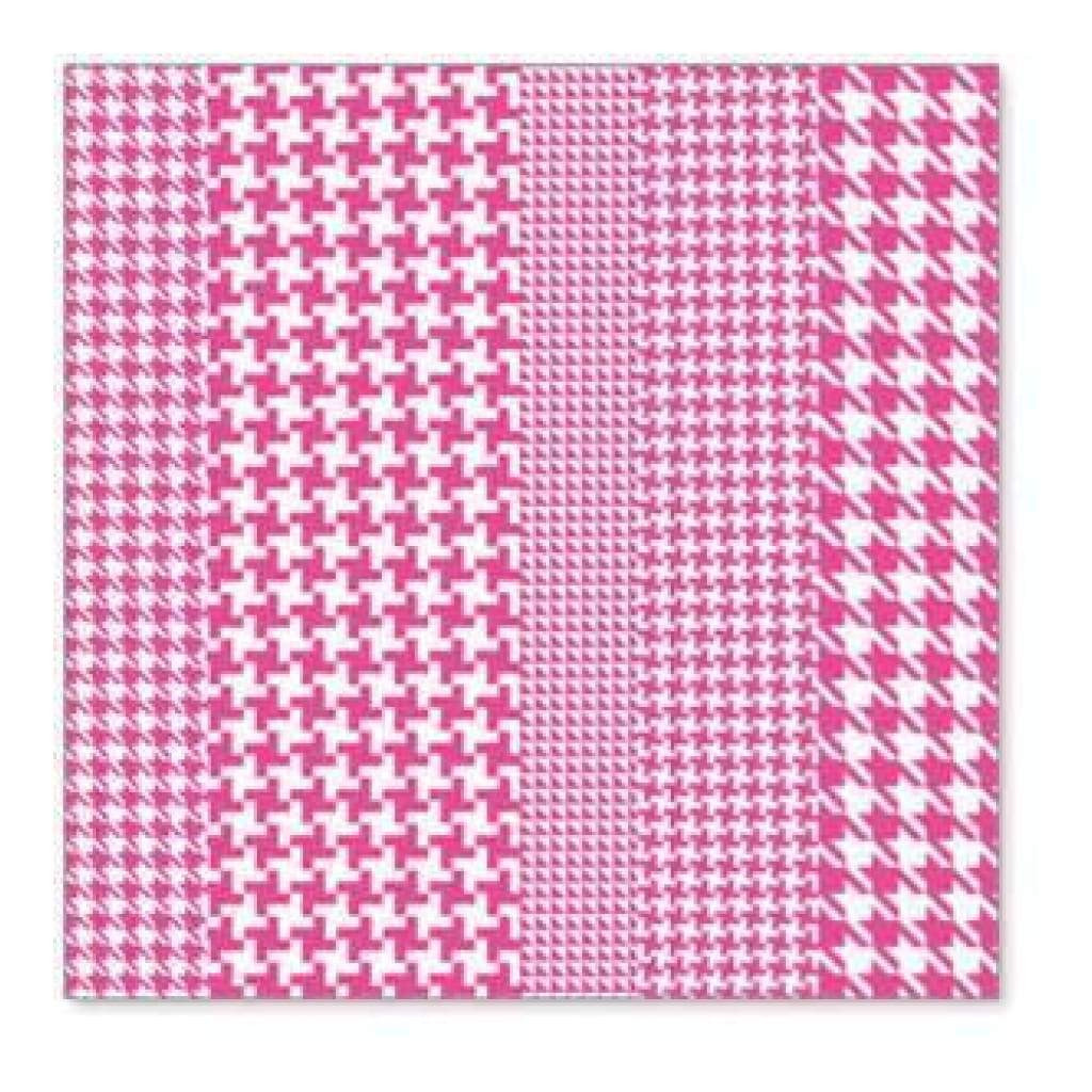 Sale Item - Hambly Screen Prints - Houndstooth Overlay - Pink  - Single 12X12 Sh
