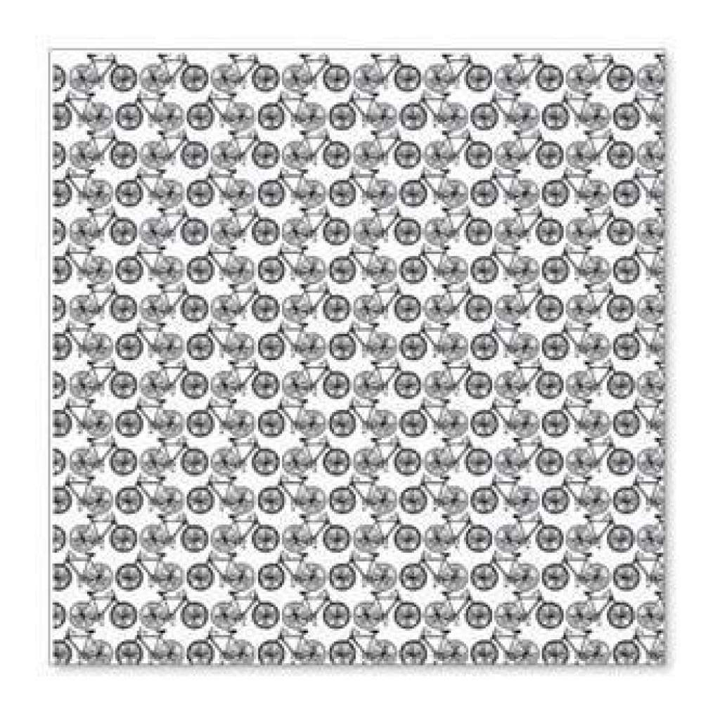 Hambly Screen Prints - Mini Bicycles Overlay - Black  - Single 12X12