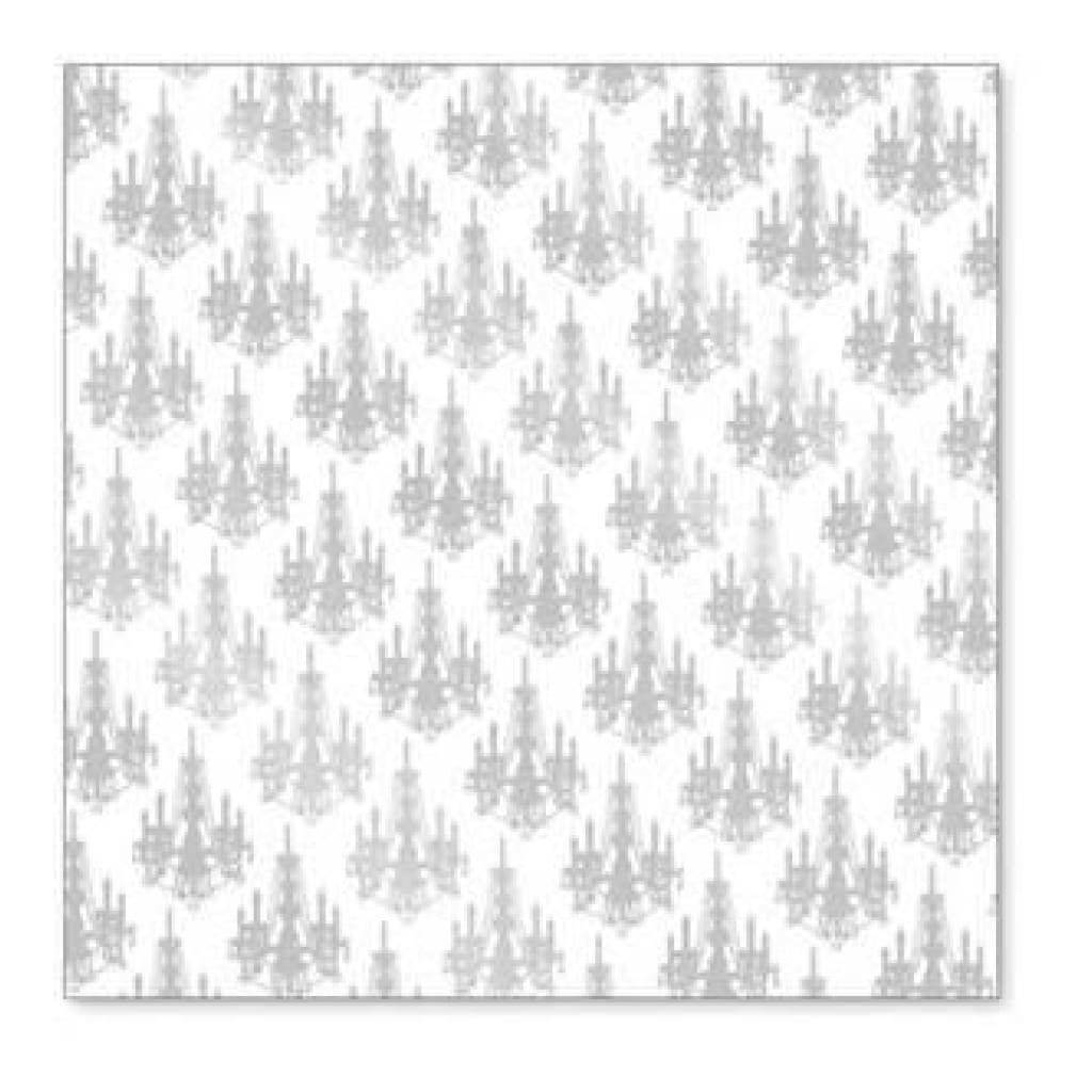 Hambly Screen Prints - Mini Chandelier Overlay - Metallic Silver  -