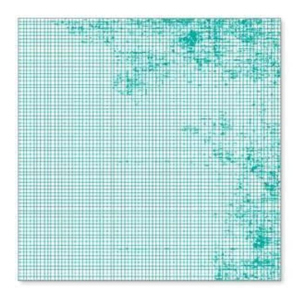 Hambly Screen Prints - Mini Graph Overlay - Teal Blue  - Single 12X1