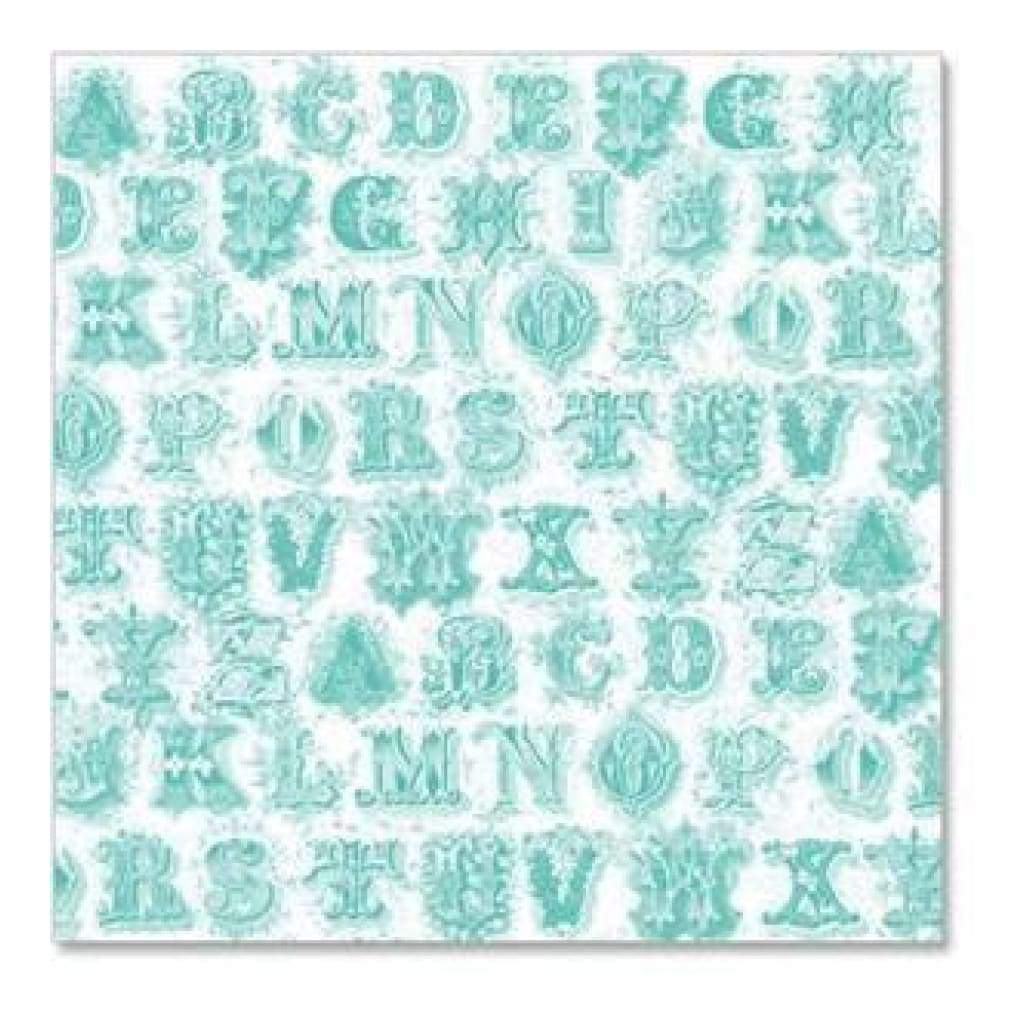 Hambly Screen Prints - Printer's Type Overlay - Antique Teal Blue  -