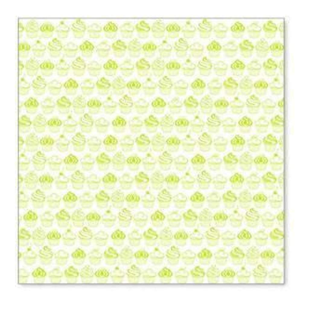 Hambly Screen Prints - Sweet Cupcakes Overlay - Lime Green  - Single