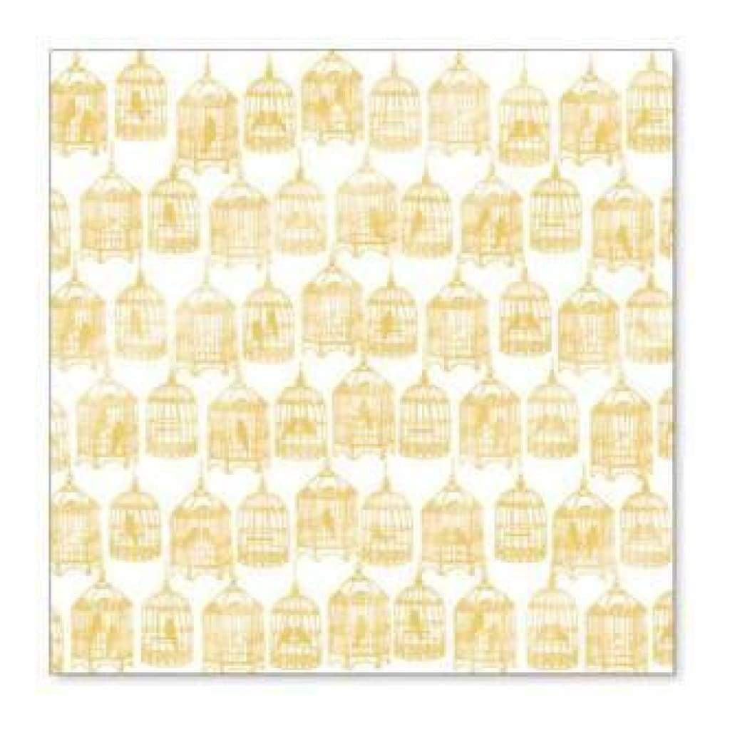 Hambly Screen Prints - The Birdcages Overlay - Metallic Gold  - Sing