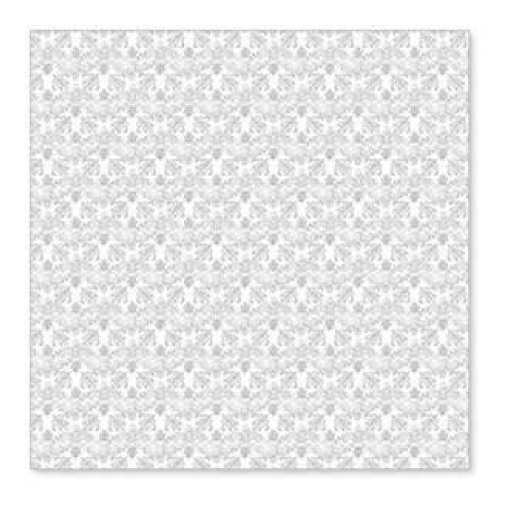 Sale Item - Hambly Screen Prints - Vintage Plaid Overlay - Metallic Silver  - Si