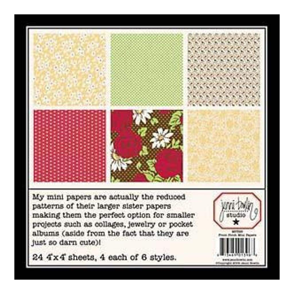 Sale Item - Jenni Bowlin - Front Porch - Min Paper Set   - Rrp:$6.99 (In013)