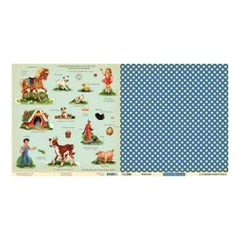 Sale Item - October Afternoon - 5&Dime - Bubble Gum 12X12 D/Sided Paper  - Singl
