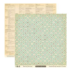 Sale Item - October Afternoon - 9 To 5 - Meeting Minutes 12X12 D/Sided Paper  -