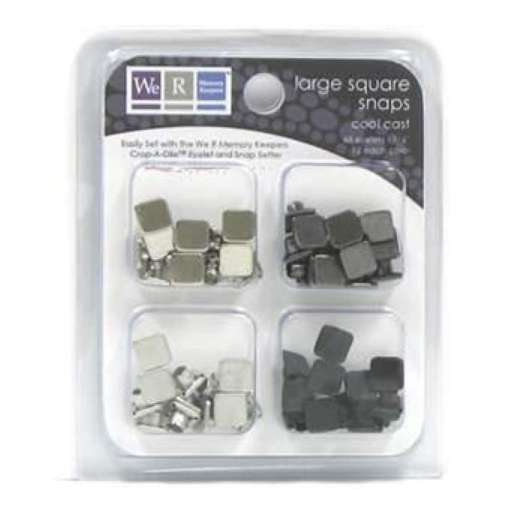 Sale Item - We R Memory Keepers - Snaps Large Square- Cool Cast 48/Pk