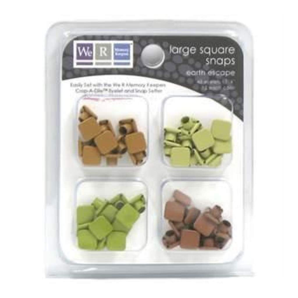 Sale Item - We R Memory Keepers - Snaps Large Square- Earth Escape 48/Pk
