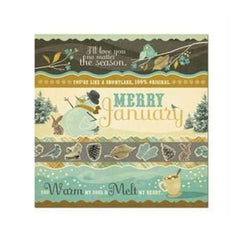 Sale Item - Wer Memory Keepers - Merry January - Snow 12X12 Foil Paper
