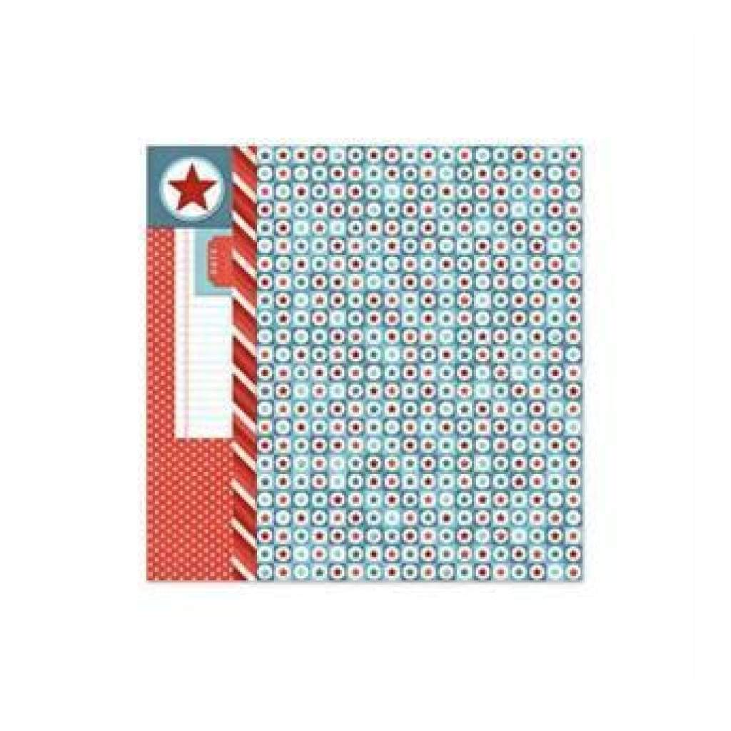 Sale Item - Wer Memory Keepers - Red White Blue - Confetti 12X12 Foil Paper