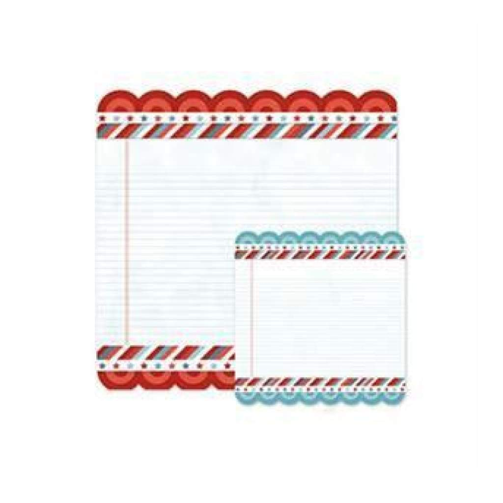 Sale Item - Wer Memory Keepers - Red White Blue - Letters Home 12X12 Die Cut Pap