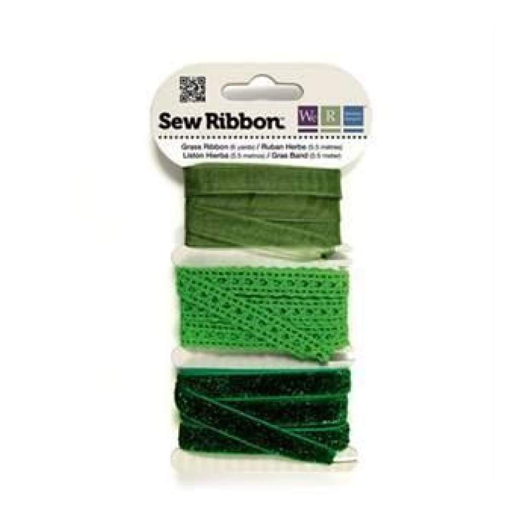 Sale Item - Wer Memory Keepers - Sew Ribbon - Lime