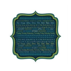 Sale Item - Wer Memory Keepers - Show & Tell - Blackboard 12X12 Die Cut Paper