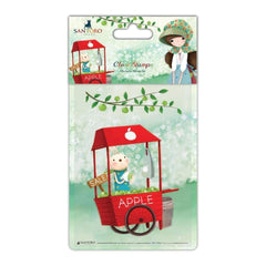 Santoro Kori Kumi Character Stamp A6 An Apple A Day, Cart