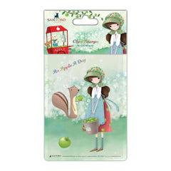Santoro Kori Kumi Character Stamp A6 An Apple A Day, Girl