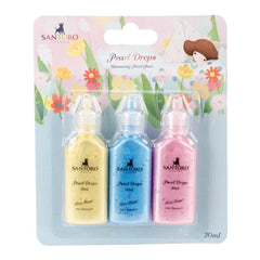Santoro Kori Kumi II Pearl Glue 3ml 3/Pkg Dreamboat; Yellow, Blue, Pink