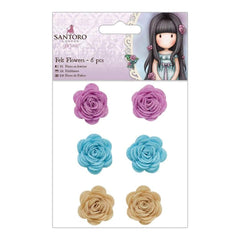 Santoros Gorjuss Felt Flowers 6 pack