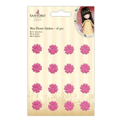 Santoros Gorjuss Mini Flower Stickers 16 pack Pink