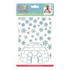 Sara Davies Signature Collection - Emboss Folder - Cute Christmas - Icy Igloo