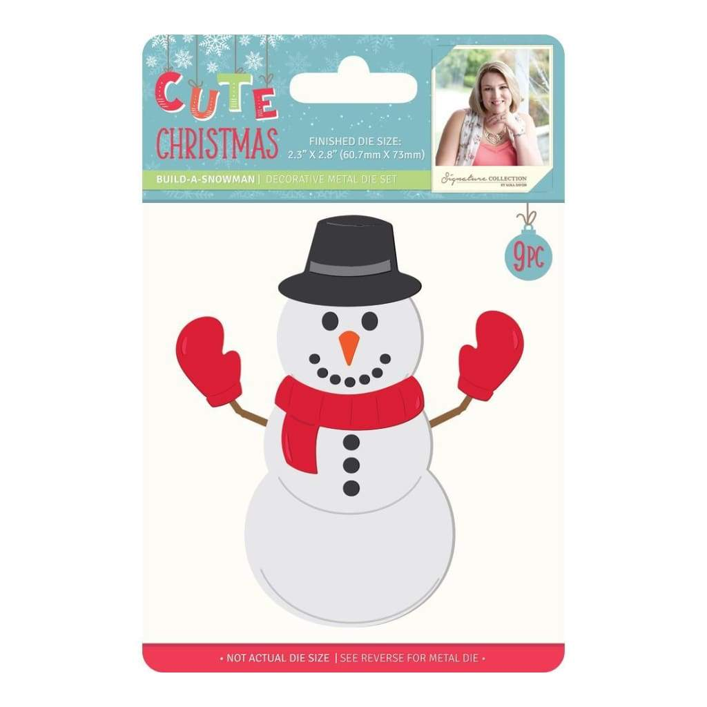 Sara Davies Signature Cute Christmas Metal Dies Build A Snowman