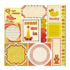 Sassafras Lass - Count Me In - 12X12 Journal Tags Stickers