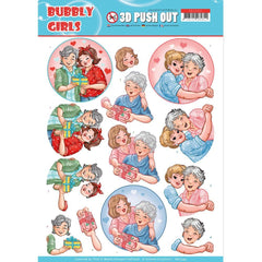 Find It Trading Yvonne Creations Punchout Sheet Mothers Day, Bubbly Girls