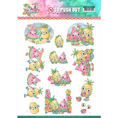 Find It Trading - Yvonne Creations Punchout Sheet - Tropical Fruits, Happy Tropics