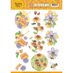 Find It Trading - Jeanines Art - Punchout Sheet - Sweet Bees, Buzzing Bees