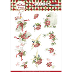 Find It Trading Precious Marieke Punchout Sheet - Red Christmas, Warm Christmas Feelings