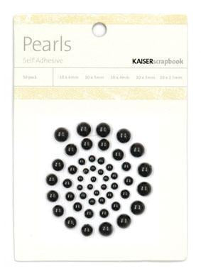 Kaisercraft Embellishments - Pearls - Black