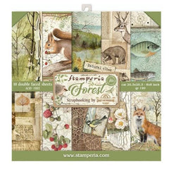 Stamperia Double-Sided Paper Pad 8in x 8in 10 pack - Forest, 10 Designs/1 Each