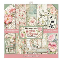 Stamperia Double-Sided Paper Pad 8in x 8in 10 pack - House Of Roses, 10 Designs/1 Each