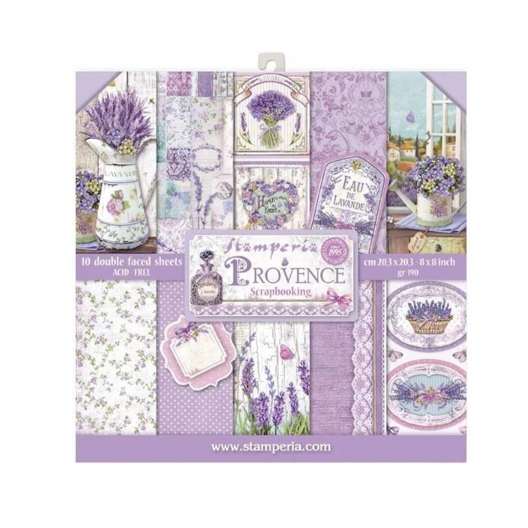 Stamperia Double-Sided Paper Pad 8in x 8in 10 pack - Provence, 10 Designs/1 Each